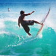 Surfing waves — Stock Photo #7794319