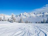 Skiing slope — Stok fotoğraf