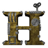 Steampunk letter h — Stock Photo