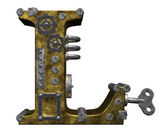 Steampunk letter l — Stock Photo