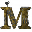 Steampunk letter m — Stock Photo
