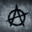 Anarchy symbol on wall - Stock Photo