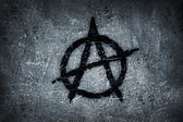 Anarchy symbol on wall — Stock Photo