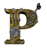Steampunk letter p — Stock Photo