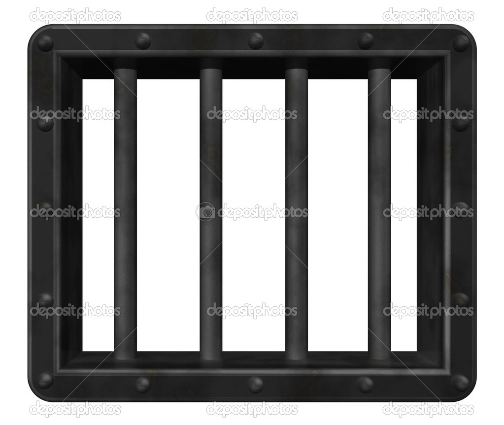 Riveted steel prison window - 3d illustration — Stock Photo #6811185