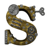 Steampunk letter s — Stock Photo