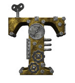 Steampunk letter t — Stock Photo