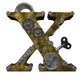 Steampunk lettre x — Photo