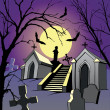 graveyard — Stock Vector