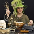 Stock Photo: Busy witch