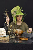 Busy witch — Stock Photo