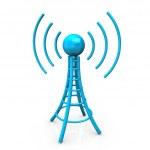 Blue Antenna Tower — Stock Photo