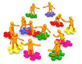 Pracy zespołowej działalności firmy — Zdjęcie stockowe