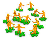 Teamwork Business Company Green Puzzle — Stock Photo