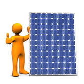 Solceller power ok — Stockfoto