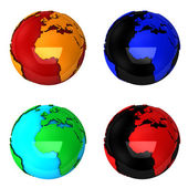 Globes — Stock Photo