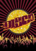Disco Party Flyer Graffiti — Stock Vector