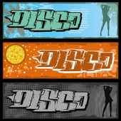 Graffiti Disco Banner — Stock Vector
