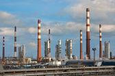 Chimneys of oil refinery — Stock Photo