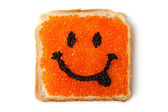 Smiley-Sandwich mit Kaviar — Stockfoto