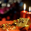 Christmas candles and gift boxes — Stock Photo #6771861
