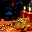 Christmas candles and gift boxes - Foto de Stock