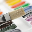 Brush with paints — Stock Photo