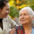 Stock Photo: Grandmother with grand daughter