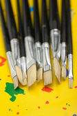 Art brushes close up — Stock Photo