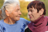 Two sisters of old age — Stock Photo