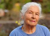 Portrait of the elderly woman — Stock Photo