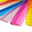 Set multi-coloured transparent combs — Stock Photo