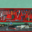 Stock Photo: Set of the working tool at the stand