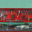 Set of the working tool at the stand — Stock Photo
