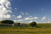 Buildings in Dartmoor, Devon, Cornwall, England, Europe — Stock Photo