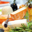 Different cheeses - close-up - Foto Stock