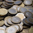Many Euro coins - Closeup - Portrait — Stock Photo