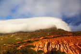 Table Mountain in clouds — Stock Photo