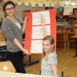 German education - teacher and student in the classroom — Stock Photo