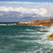 Stock Photo: Waves on Mediterranesea.