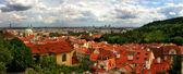 Panoramic aerial skyline view of Prague. — Stock Photo
