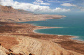 Dead sea coastline in Arava desert. — Stock Photo