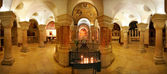 Interior panoramic view of Church of Dormition. — Stock Photo