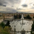 Royalty-Free Stock Photo: Piazza del Popolo panoramic view.