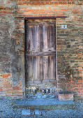 Porta in legno d'epoca. — Foto Stock