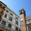 Stock Photo: Historical houses in Verona, Italy.