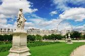 Sculptures in Tuileries Garden in Paris, France. — Stock Photo