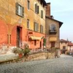 Old street. Saluzzo, Italy. — Stock Photo