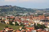 Aerial view on Alba. Piedmont, Italy. — Stock Photo
