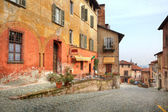 Old street. Saluzzo, Italy. — Stock Photo